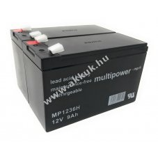 Powery ólom akku MP1236H kompatibilis USV APC RBC9 12V 9Ah (7,2Ah/7Ah is)